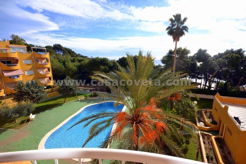 Appartement met 2 slaapkamers met uitzicht op zee en alle faciliteiten van het resort Coveta Fuma El Campello Ref,117