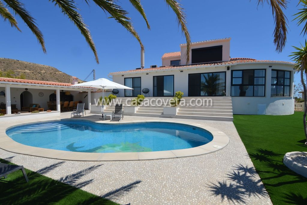 Luxury beautifully decorated holiday villa for 12 people with private pool, lounge area, outdoor kitchen and stunning and unobstructed views over the Mediterranean Sea Ref: 474